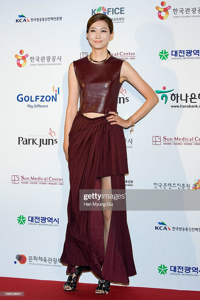 South Korean model Lee Sun-Jin attends the 1st K-Drama Star Awards at Daejeon Convention Center on December 8, 2012 in Daejeon, South Korea.