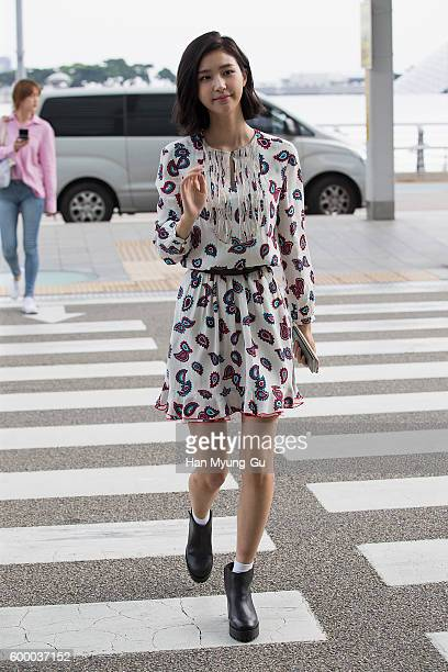 South Korean model Vivian is seen on departure at Incheon International Airport on September 7 2016 in Incheon South Korea