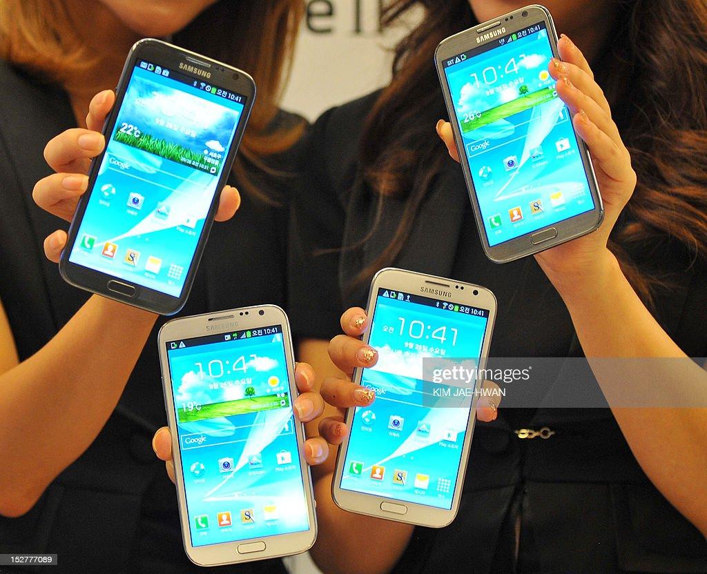 SKOREA-TECHNOLOGY-IT-SMARTPHONE-SAMSUNG : News Photo