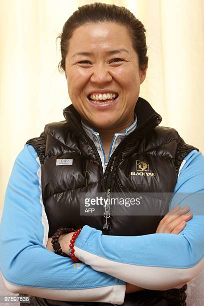 South Korean mountaineer Oh Eunsun poses for a photograph during an interview with AFP in Kathmandu on March 9 2010 Oh is hoping to climb Annapurna...