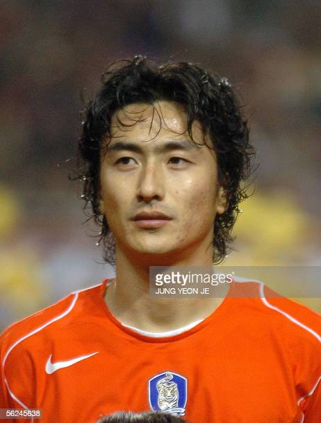 South Korean national football team player Ahn JungHwan is seen during a friendly match with Sweden in Seoul 12 November 2005 AFP PHOTO/JUNG YEONJE