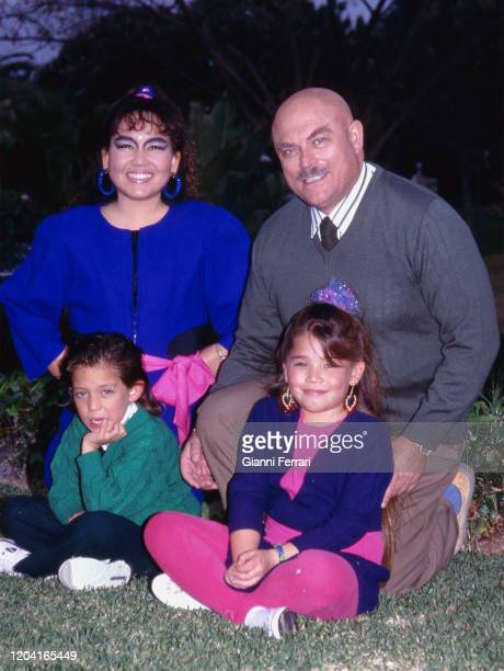 South Korean Opera singer Kimera and her american husband Raymond Nakachian and their daughter Melodie , Estepona, Malaga, Spain, 1991.
