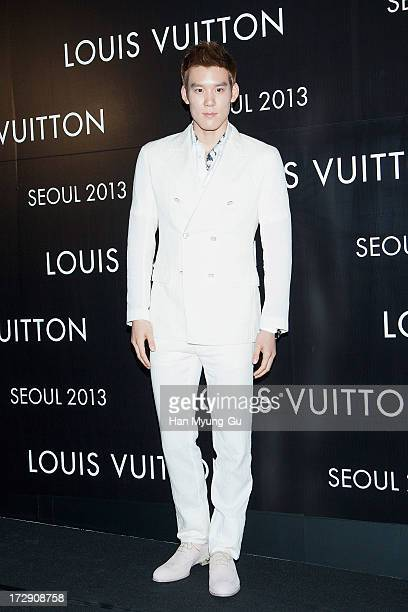 South Korean Park TaeHwan attends the 'Louis Vuitton' Hyundai Department Store Global Store Grand Opening Party at the Horim Art Center on July 5...