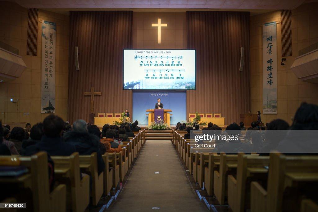 South Korean Christians Attend Sunday Mass In Gangneung
