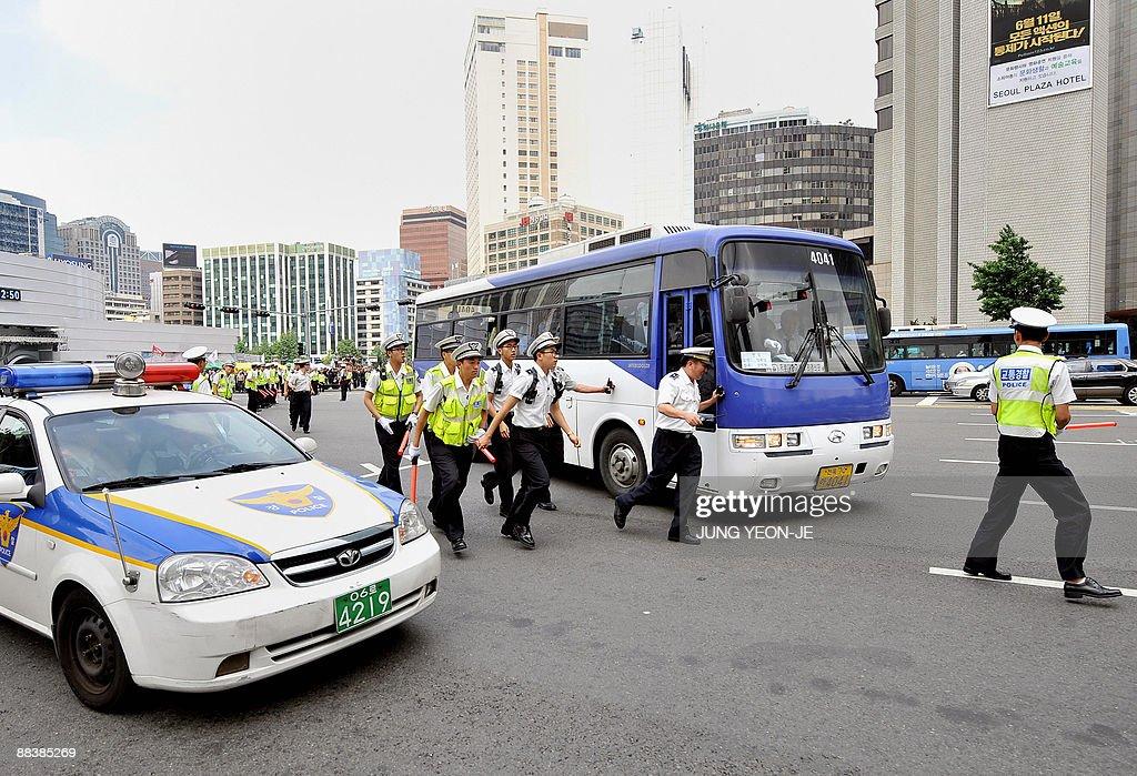 korea police bus зурган илэрцүүд
