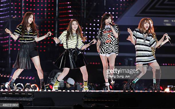South Korean pop group 4minute perform on stage during the 20th Dream Concert on June 7 2014 in Seoul South Korea