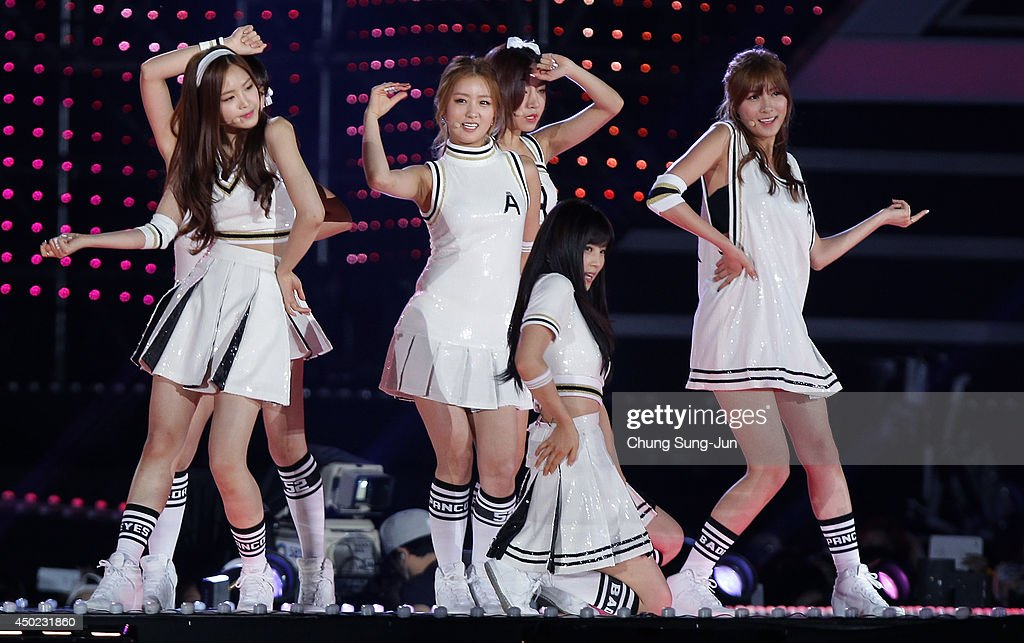 South Korean pop group Apink perform on stage during the 20th Dream Concert on June 7, 2014 in Seoul, South Korea.