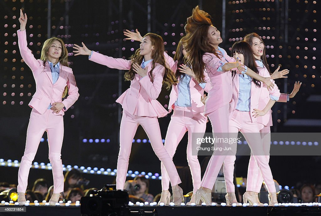 South Korean pop group Girls Generation perform on stage during the 20th Dream Concert on June 7, 2014 in Seoul, South Korea.