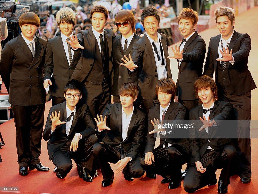 South Korean pop group 'Super Junior' po : News Photo