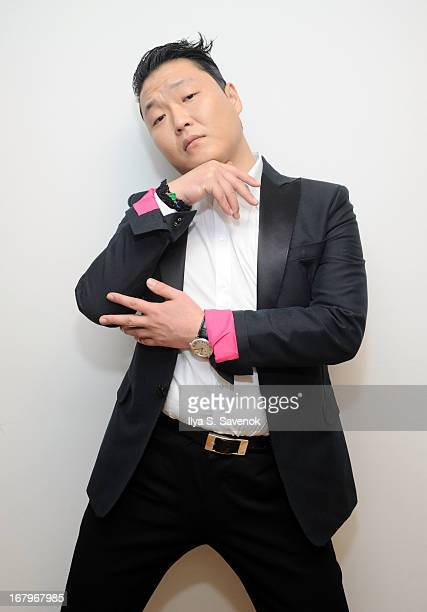 South Korean Pop singer Psy visits the SiriusXM Studios on May 3 2013 in New York City