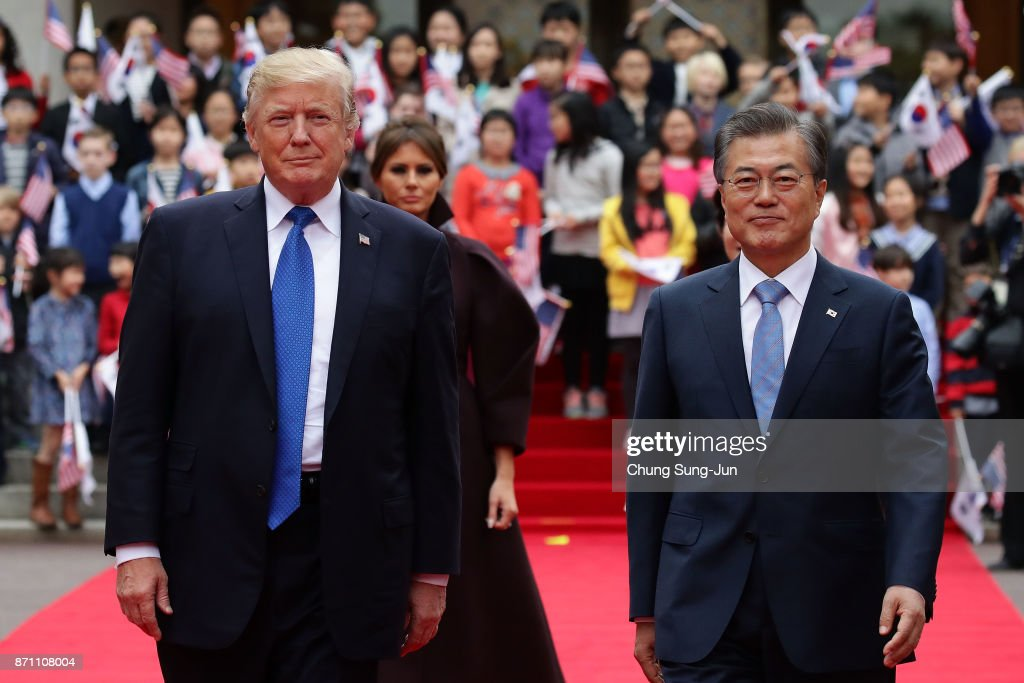 U.S. President Donald Trump Visits South Korea - Day 1