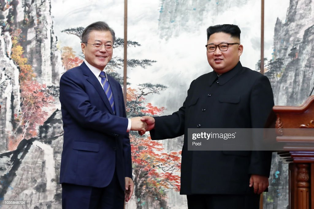 North And South Korean Leaders Meet For Third Summit In Pyongyang : News Photo