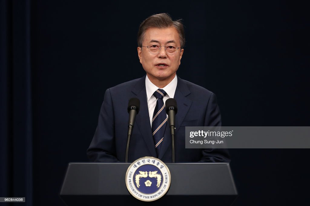 South Korean President Moon Jae-in Speaks After Surprise Meeting With North Korean Leader Kim Jong-un