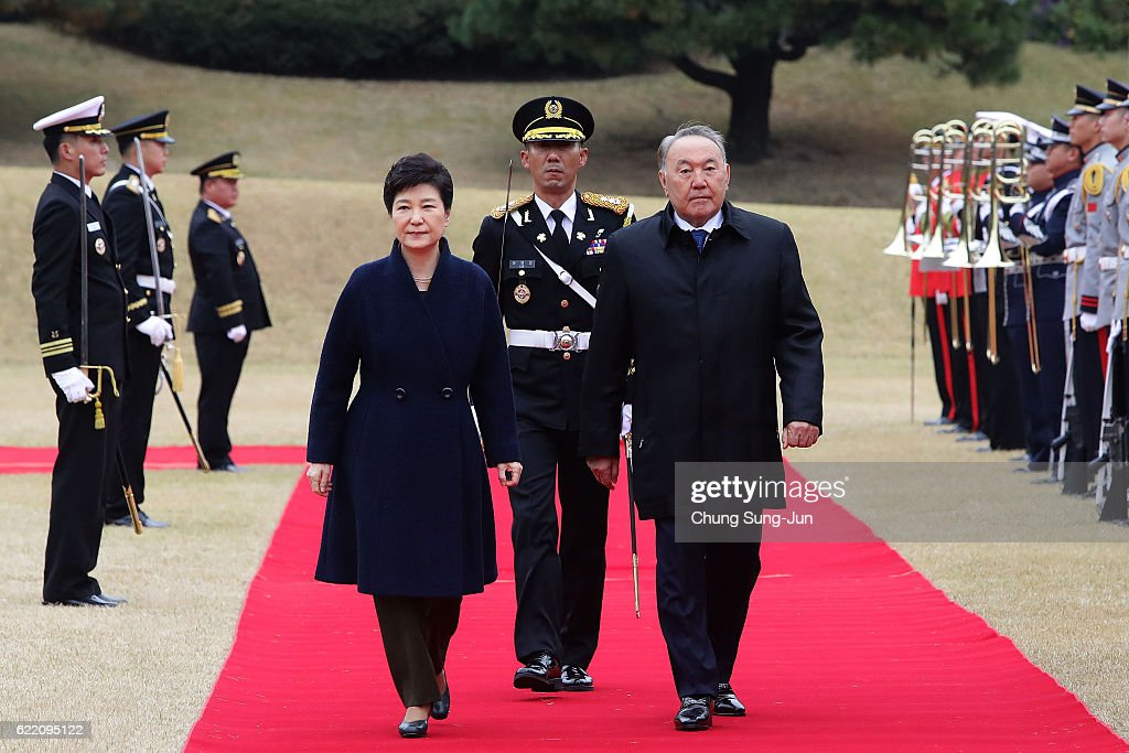 Kazakhstan President Nursultan Nazarbayev Meets With South Korean President Park In Seoul