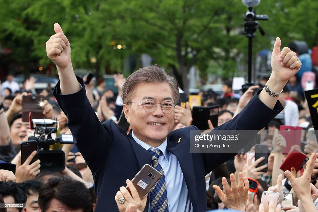 Presidential Candidates Campaign In South Korea : News Photo