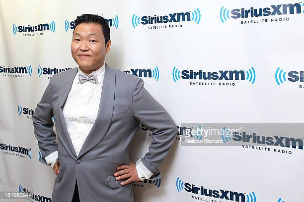 South Korean rapper Park JaeSang aka Psy visits the SiriusXM Studios on September 14 2012 in New York City