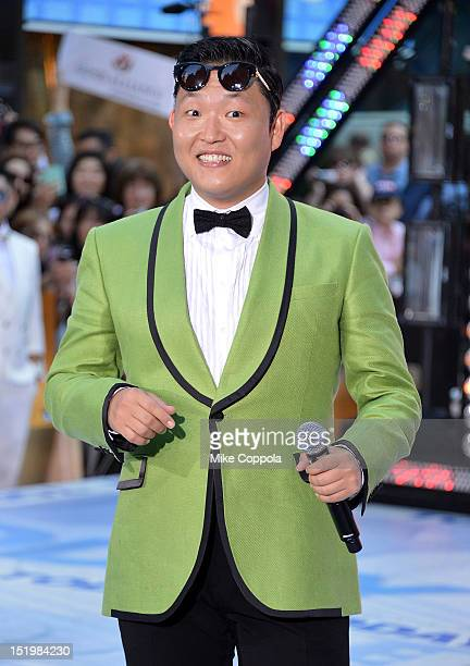 South Korean rapper Psy performs on NBC's 'Today' at Rockefeller Plaza on September 14 2012 in New York City