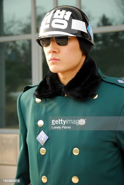 South Korean ROK guard, Demilitarized Zone.