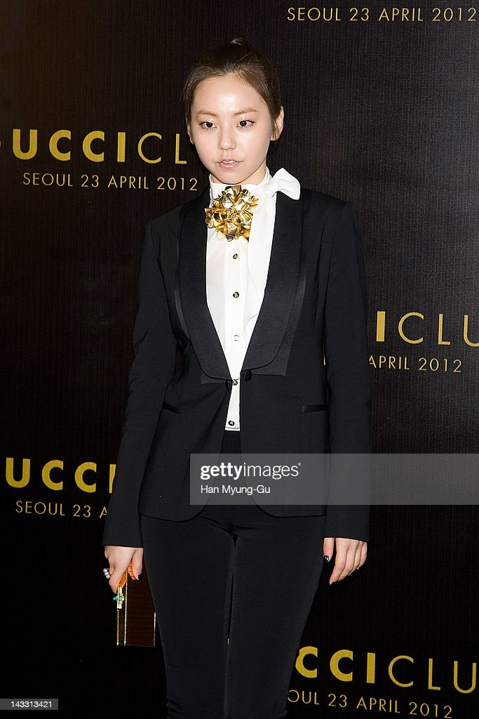 South Korean singer Ahn So-Hee of Wonder Girls attends the Reopening of Gucci's Seoul Flagship Store on April 23, 2012 in Seoul, South Korea.