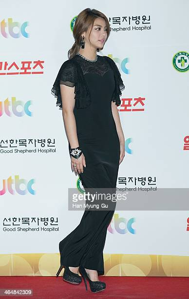 South Korean singer Ailee attends the 28th Golden Disk Awards at Kyunghee University on January 16 2014 in Seoul South Korea
