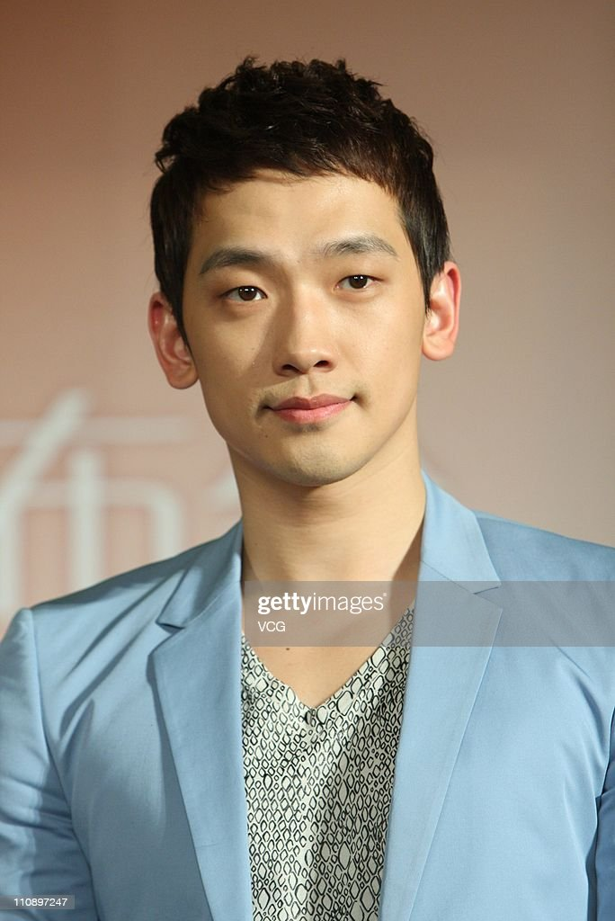 South Korean singer and actor Rain attends a press ...