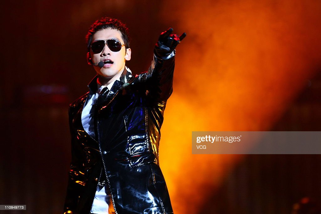 South Korean singer and actor Rain performs on the stage ...