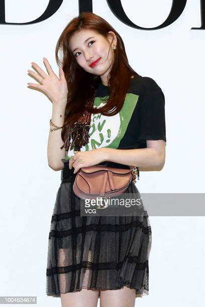 South Korean singer and actress Bae Suzy attends the opening banquet of Dior flagship store on July 20, 2018 in Taipei, Taiwan of China.