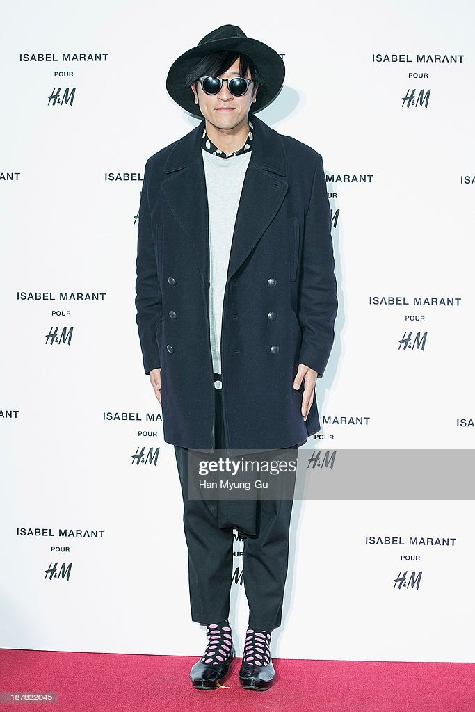 South Korean singer Bback Ga (Bbackga) attends Isabel Marant Pour H&M pre-shopping and party at Noon Square H&M Store on November 12, 2013 in Seoul, South Korea.