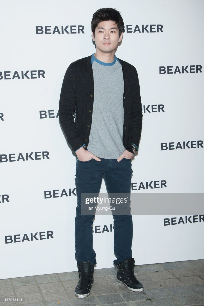 South Korean singer Chang Ki-Ha attends a promotional event for the 'BEAKER' Gangnam Flagship Store Opening on May 3, 2013 in Seoul, South Korea.