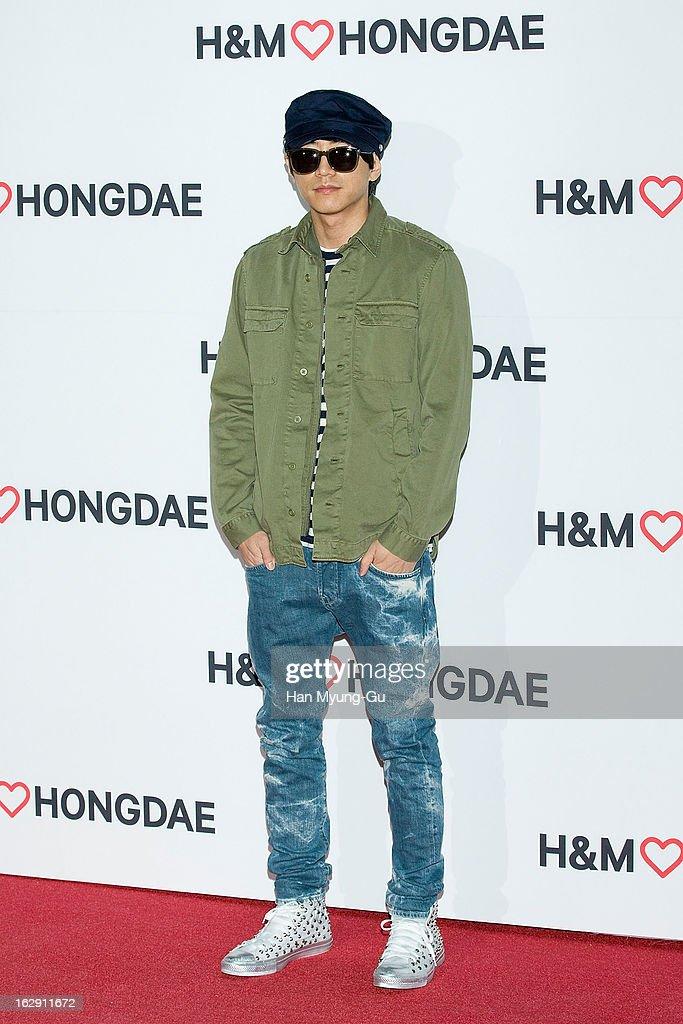 South Korean singer Double K attends the H&M (Hennes & Mauritz AB) Hongik University Store Opening on February 28, 2013 in Seoul, South Korea.