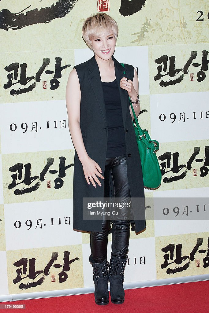 South Korean singer Gummy attends during 'The Face Reader' VIP screening at the CGV on September 4, 2013 in Seoul, South Korea. The film will open on September 11, in South Korea.