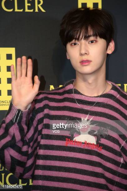 South Korean Singer Hwang Minhyun of boy group Wanna One attends Moncler event at Tsim Sha Tsui on June 5 2019 in Hong Kong China