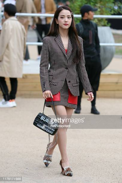 South Korean singer Jisoo from Blackpink South Korean singer attends Burberry at Troubadour White City Theatre during LFW September 2019 on September...
