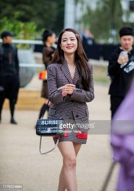 South Korean singer Jisoo from Blackpink South Korean singer during London Fashion Week September 2019 on September 16, 2019 in London, England.