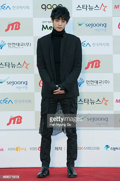 South Korean singer Jung JoonYoung attends 3rd Gaon Chart KPop Awards at Olympic Gym on February 12 2014 in Seoul South Korea