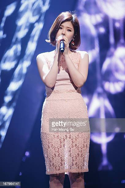 South Korean singer Lyn performs onstage during the Mnet 'M CountDown' at CJ EM Center on May 02 2013 in Seoul South Korea