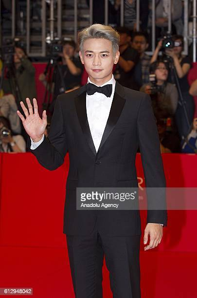 South Korean singer Minho attends the opening ceremony of the 21st Busan International Film Festival at Busan Cinema Center in Seoul South Korea on...