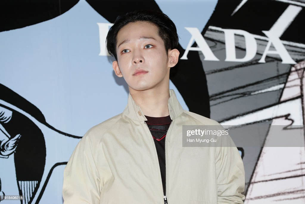 South Korean singer Nam Tae-Hyun attends the photocall for the 'PRADA' on February 7, 2018 in Seoul, South Korea.