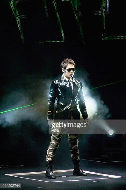 """South Korean singer Rain performs on stage during his """"THE BEST"""" 2011 RAIN ASIA TOUR at Cotai Strip CotaiArena on May 14, 2011 in Macao, China."""