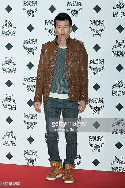 South Korean singer Sean attends the MCM S/S 2014 Seoul Fashion Show at Lotte Hotel on November 26 2013 in Seoul South Korea