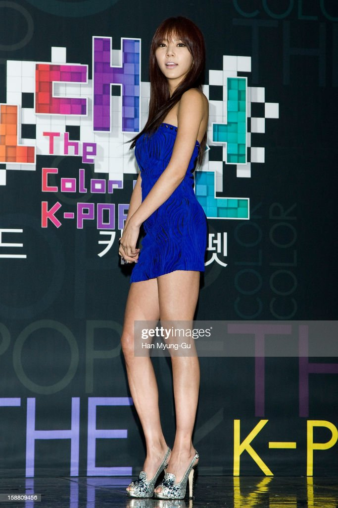 South Korean singer Son Dam-Bi arrives at the 2012 SBS Korea Pop Music Festival named 'The Color Of K-Pop' at Korea University on December 29, 2012 in Seoul, South Korea.