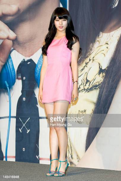South Korean singer Suzy of girl group Miss A attends a press conference to promote KBS drama 'Big' at Lotte Hotel on May 29, 2012 in Seoul, South...