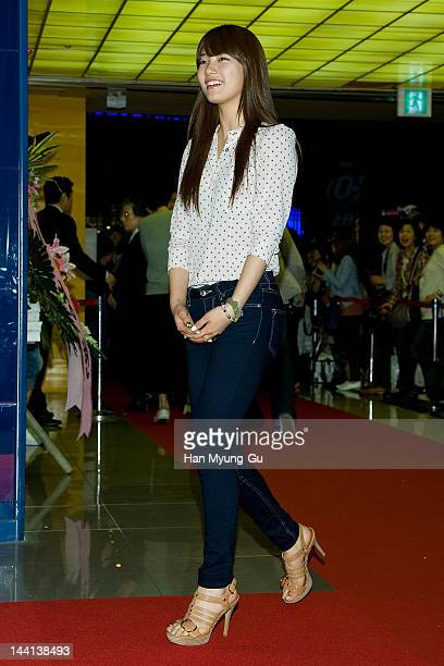 South Korean singer Suzy of girl group Miss A attends the 'All About My Wife' VIP screening at Mega Box on May 10 2012 in Seoul South Korea The movie...