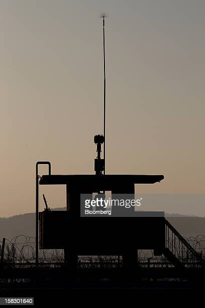 A South Korean soldier guards a post near the demilitarized zone in Paju South Korea on Wednesday Dec 12 2012 North Korea fired a rocket that placed...