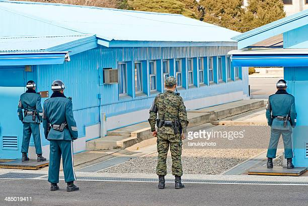 south korean soldiers in the jsa - korean military stock photos and pictures