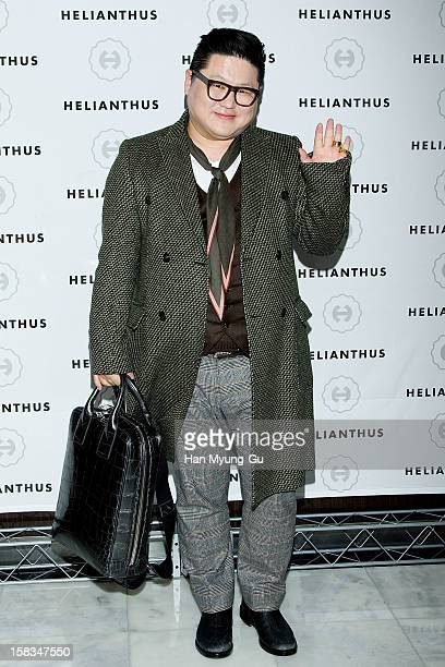 South Korean Stylist PR Agency Intrend President Jeong YunKee attends a promotional event for the 'Helianthus' Flagship Store Opening at Lotte Duty...