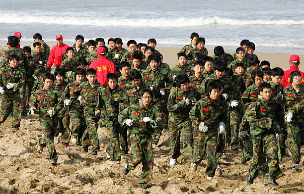 South Korean Marines Winter Military Camp Photos And Images Getty