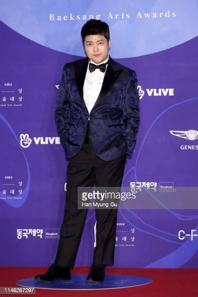South Korean TV personality Jun HyunMoo attends the 55th Baeksang Arts Awards at COEX D Hall on May 01 2019 in Seoul South Korea