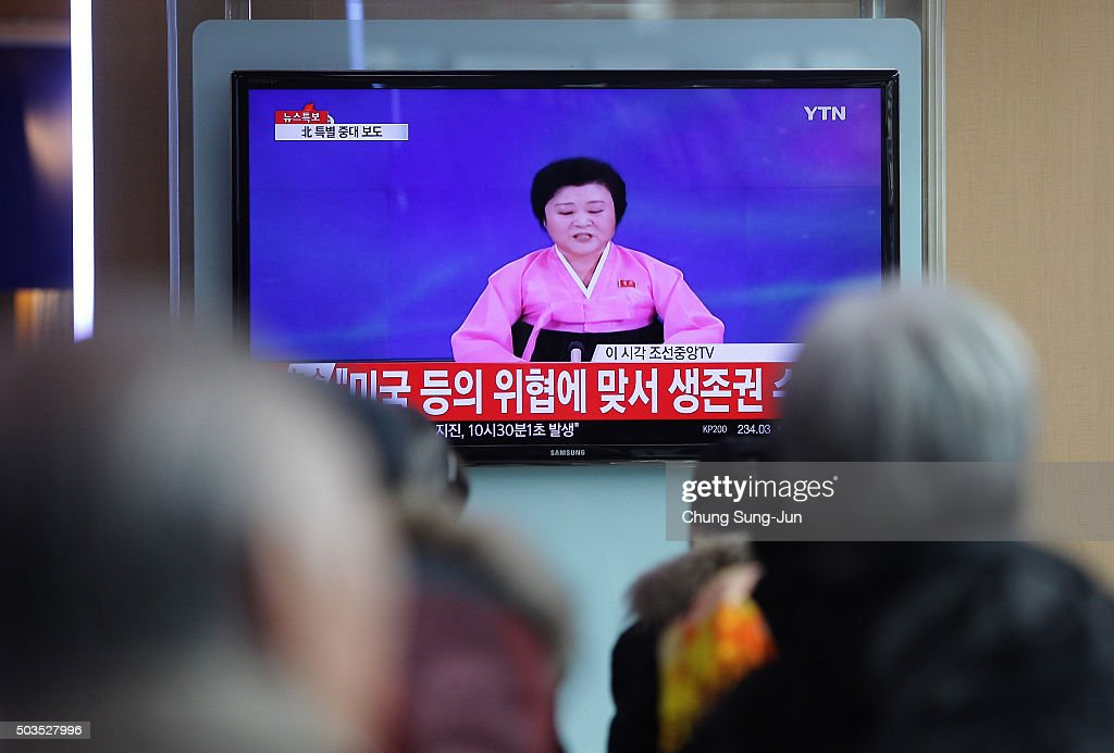 South Korea Reacts As North Korea Confirms Hydrogen Bomb Test : News Photo