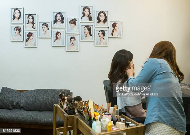 South korean woman called juyeon in a beauty saloon national capital area seoul South Korea on May 31 2016 in Seoul South Korea